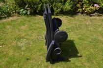 Leżak basenowy plastikowy antracytowy na kółkach