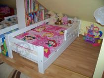 Łóżko dziecięce z szufladą 180x80 cm białe
