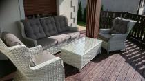 Luksusowe fotele i sofa z technorattanu na taras Trivento 3 Melange White