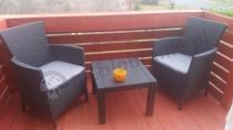Mały balkon meble Rosario Balcony Set dwa fotele i stolik