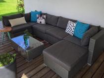 Meble balkonowe z technorattanu Nilamito VIII Grey & Grey