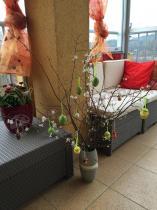 Meble Keter do ogrodu Provence cappuccino na balkonie