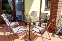 Meble na balkon metalowe zestaw obiadowy na taras