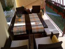 Meble na balkon technorattan Cristallo zestaw mebli stołowych