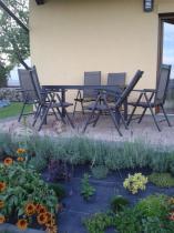 Meble obiadowe z aluminium i tworzywa sztucznego Rimini w ogrodzie