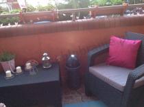 Meble ogrodowe Corfu Weekend na wąskim balkonie