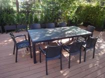 Meble ogrodowe dla 12 osób brązowe