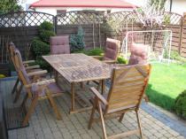 Meble ogrodowe drewniane rozkładane łatwe do przechowywania