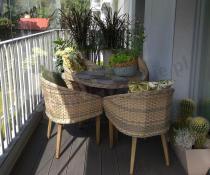 Meble ogrodowe okrągły stół Promocja Contito Technorattan