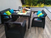 Meble ogrodowe stołowe na garden party Corfu Fiesta