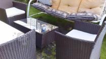 Meble ogrodowe z huśtawką technorattan Comodo