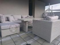 Meble ogrodowe z technorattanu Ligurito VI Plus Off-White Elite & Taupe