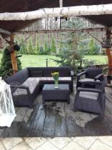 Meble tarasowe i balkonowe Corfu Relax Duo brązowe
