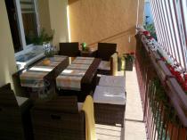 Meble technorattan na balkon Cristallo komplet mebli stołowych