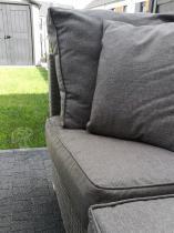 Meble z technorattanu do ogrodu modułowe Nilamito V Plus Grey&Grey