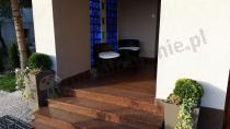 Meble z technorattanu na balkon komplet Modico