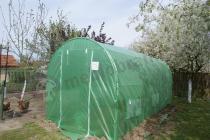 Metalowy tunel foliowy do uprawy warzyw zielona siatka wzmacniająca