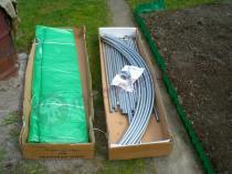 Metalowy tunel ogrodniczy - rozmiar i zawartość paczki
