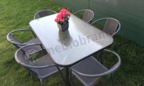 Metalowy zestaw ogrodowy Simple 150/6 stół i krzesła