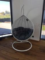 Miloo Cocoon luksusowy fotel wiszący technorattan z poduszką