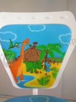 Ministyle White krzesło ergonomiczne dla dzieci z dinozaurami