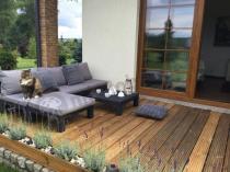 Modny zestaw ogrodowy na taras niski narożnik Allibert Nevada