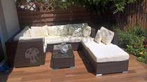 Modułowe sofy ogrodowe z technorattanu Nilamito