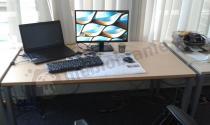 Nowoczesne biurka do biura MBr C-3 138 cm
