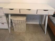 Nowoczesne biurko z szufladami skandynawskie wysoki połysk