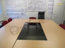Nowoczesne stoły konferencyjne drewniane składane 160x80cm Rico 2
