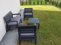 Nowoczesny prosty zestaw ogrodowy dla 4 osób Allibert Delano Set