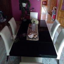 Nowoczesny stół rozkładany czarny połysk Linosa 2