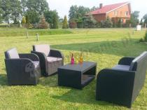 Ogródkowy zestaw technorattanowy wzór z poduszkami na oparcie Modena