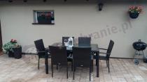 Ogrodowe meble z dużym stołem obiadowym w brązowym kolorze Fiesta Venecja