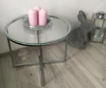 Okrągły nowoczesny stolik kawowy szklany Actona Cross III