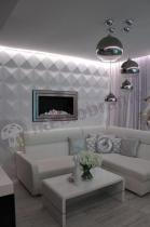 Panele na ścianę do pokoju dziennego z efektownym oświetleniem
