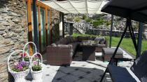 Piękny komplet ogrodowy technorattan w brązowym kolorze Nilamito