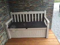 Plastikowa ławka ogrodowa ze schowkiem Eden Garden Bench 265L