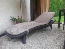 Poduszka na leżak ogrodowy plastikowy Pacific brązowy
