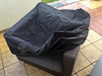 Pokrowce na meble technorattan dopasowane do fotela z kompletu