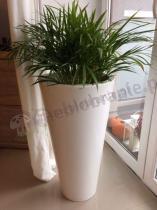 Polietylenowa biała donica tarasowa Della