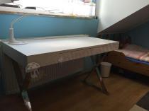 Proste białe biurko w nowoczesnym stylu Zefir