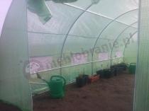 Przestronne wnętrze tunelu ogrodniczego o wymiarach 6x3 m