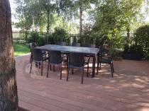 Rodzinny komplet mebli ogrodowych zestaw rozkładany