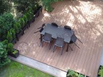 Rozkładany komplet mebli ogrodowych dla 12 osób