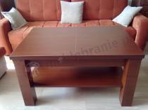 Rozkładany ławostół Kolorado w brązowym kolorze na drewnianych panelach