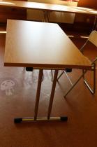 Składany stół konferencyjny VIP w kolorze buk bawaria