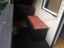 Skrzynia balkonowa Keter Springwood z poduszką na siedzisko
