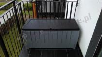 Skrzynia na balkon plastikowa Keter Novel Storage Box 340L