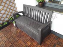 Skrzynia z opcją siedzenia i oparciem Keter Patio Bench